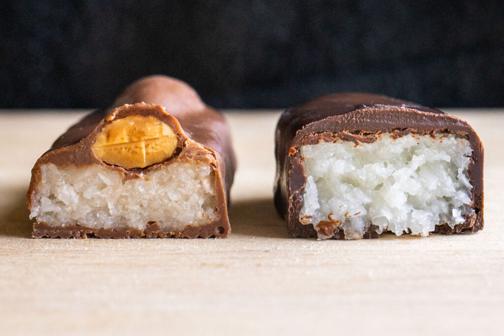 Almond Joy and Mounds Cross Section
