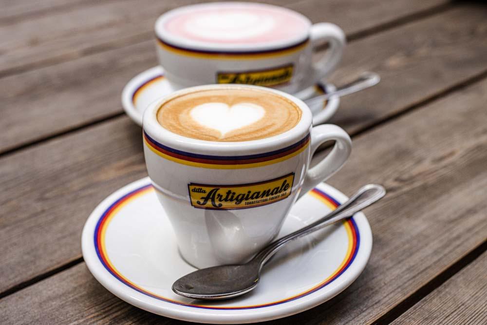Coffees at Ditta Artigianale Oltrarno in Florence