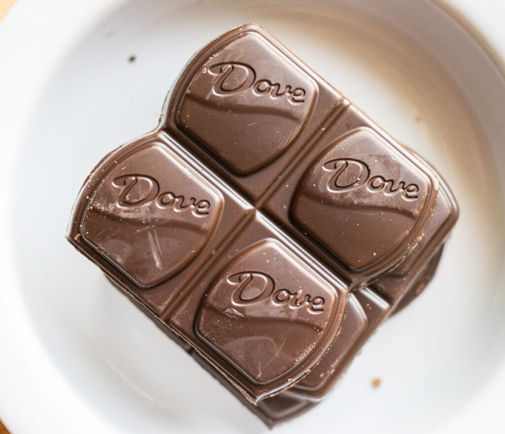 Dove Bar Out of Wrapper