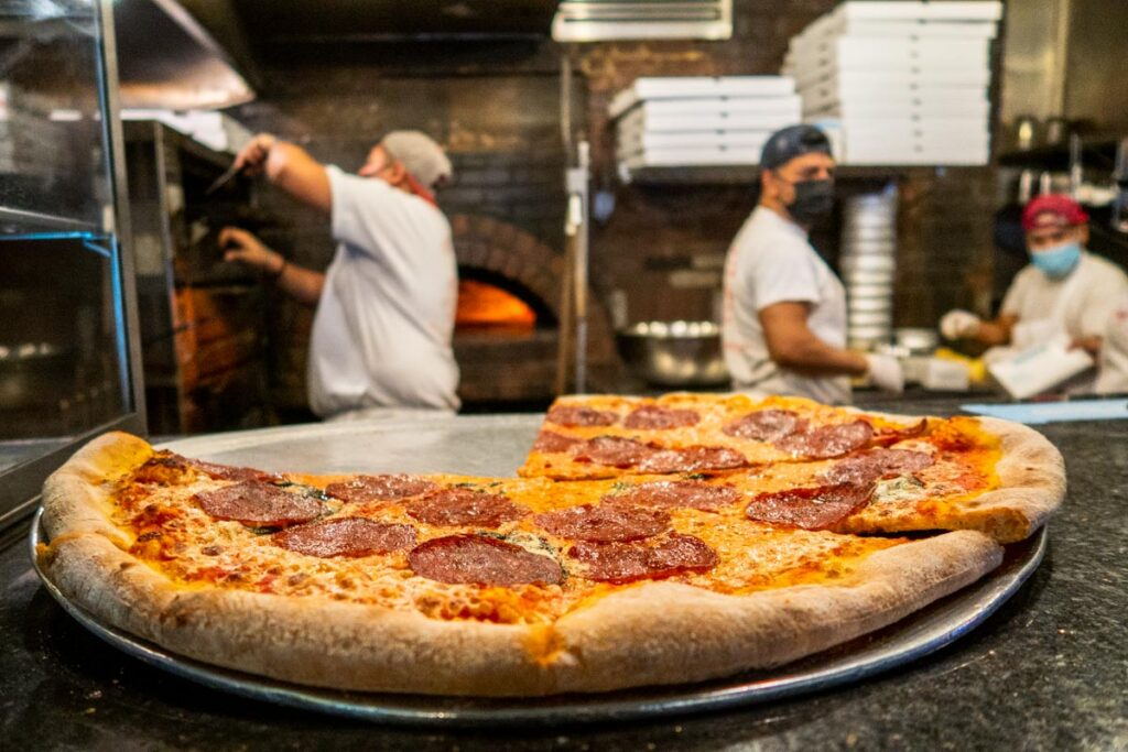 Kitchen at Best Pizza in Brooklyn New York