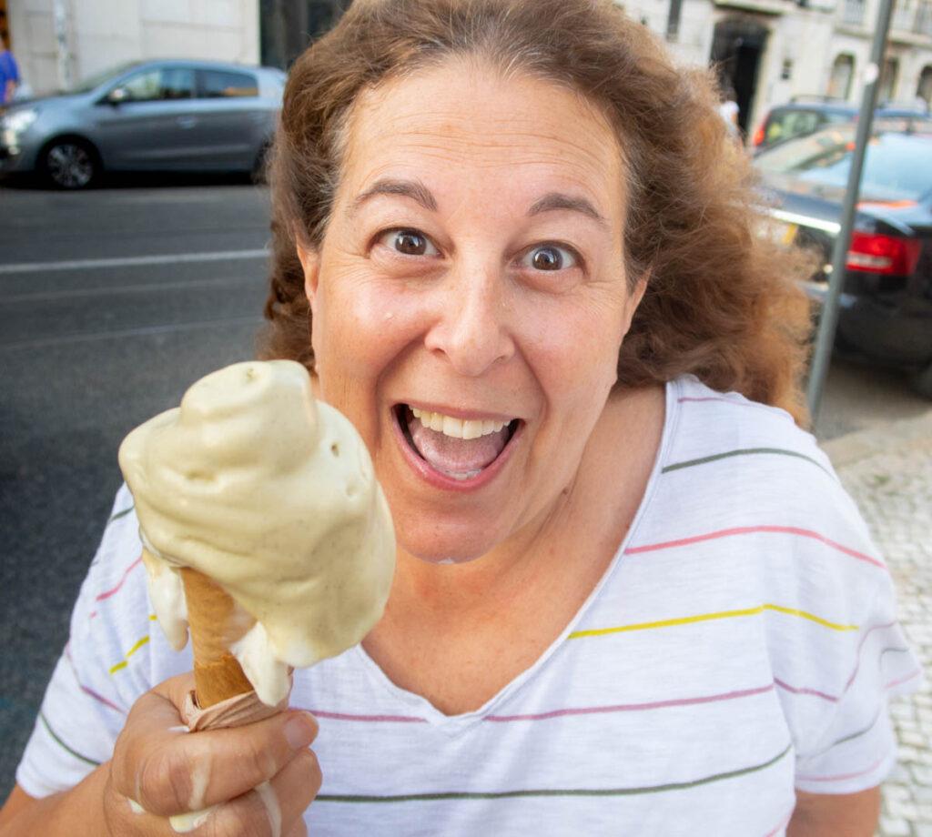 Mindi Eats Gelato at Niva Cremeria in Lisbon