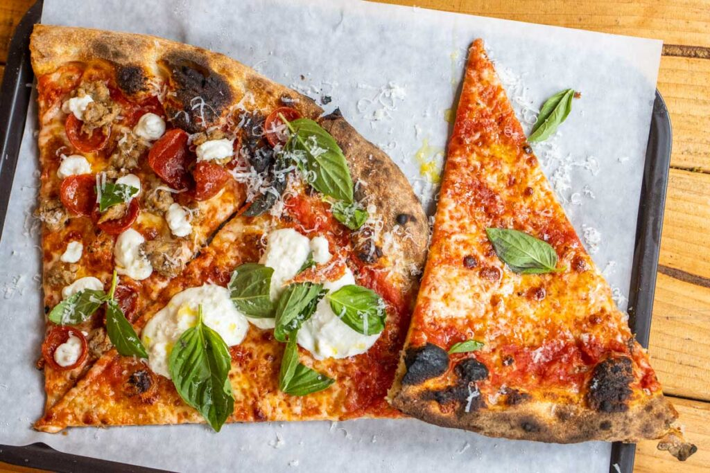 Pizza Slices at L Industrie Pizzeria in Brooklyn New York