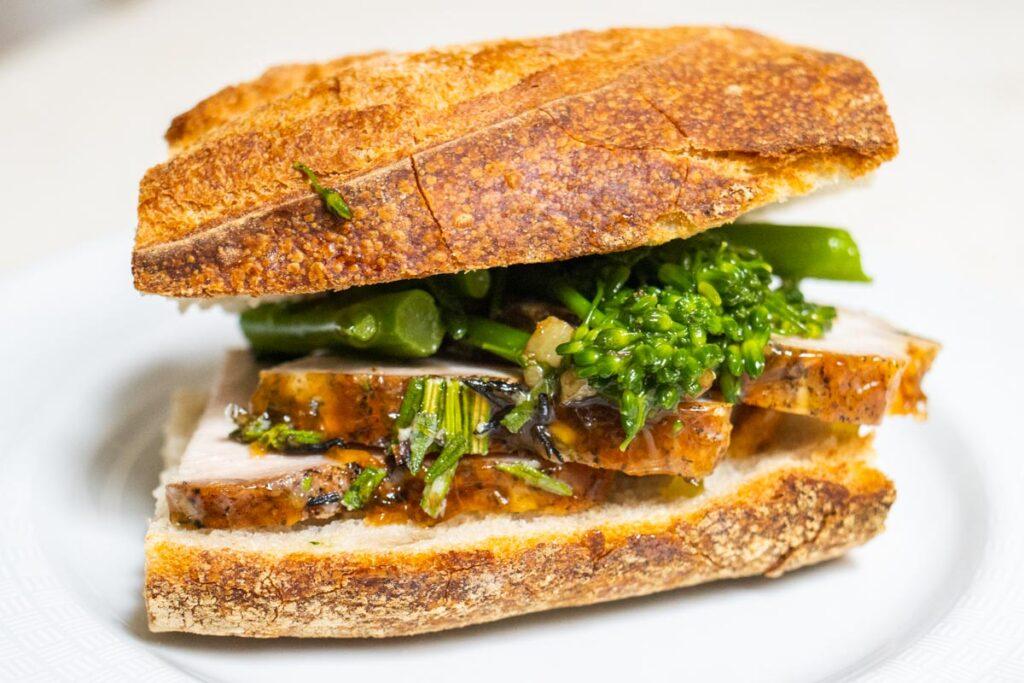 Pork Loin Roast Leftover in Sandwich