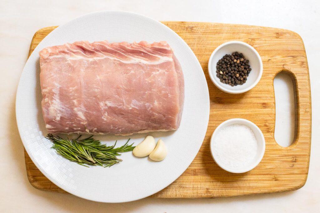 Pork Loin Roast Mis-en-Place