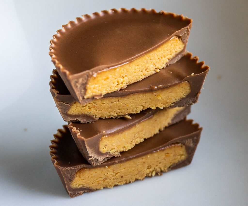 Reese's Peanut Butter Cup Cross Section