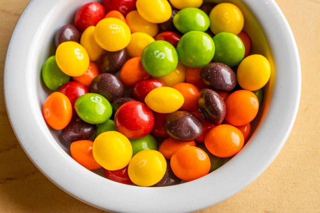 Skittles in Bowl