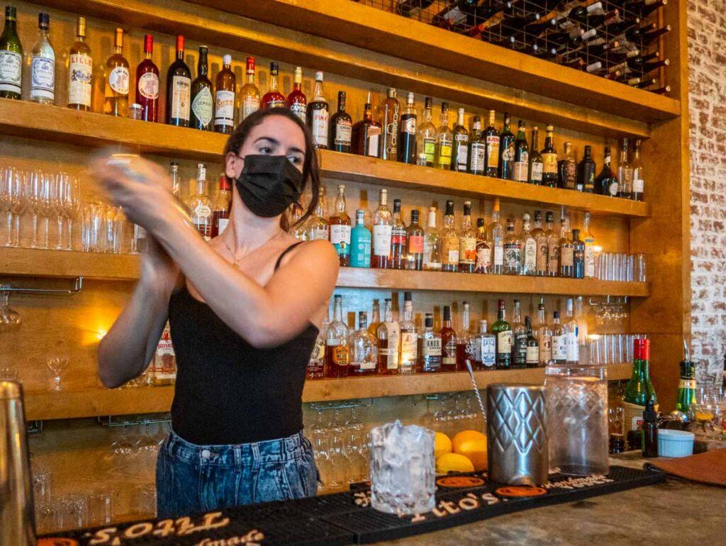 Bartender at Saint Germaine in New Orleans