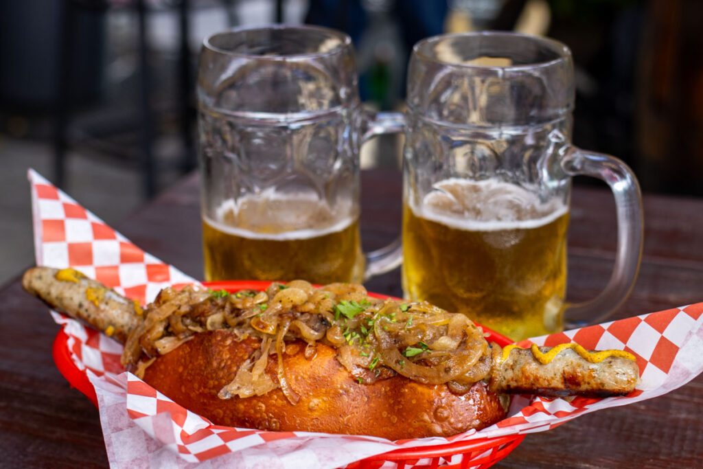 Brat and Beers at Bratz Yall in New Orleans