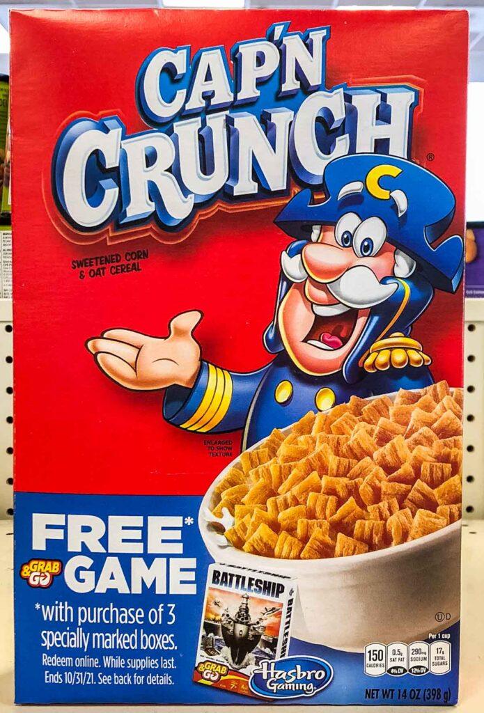 Cap'n Crunch Cereal Box
