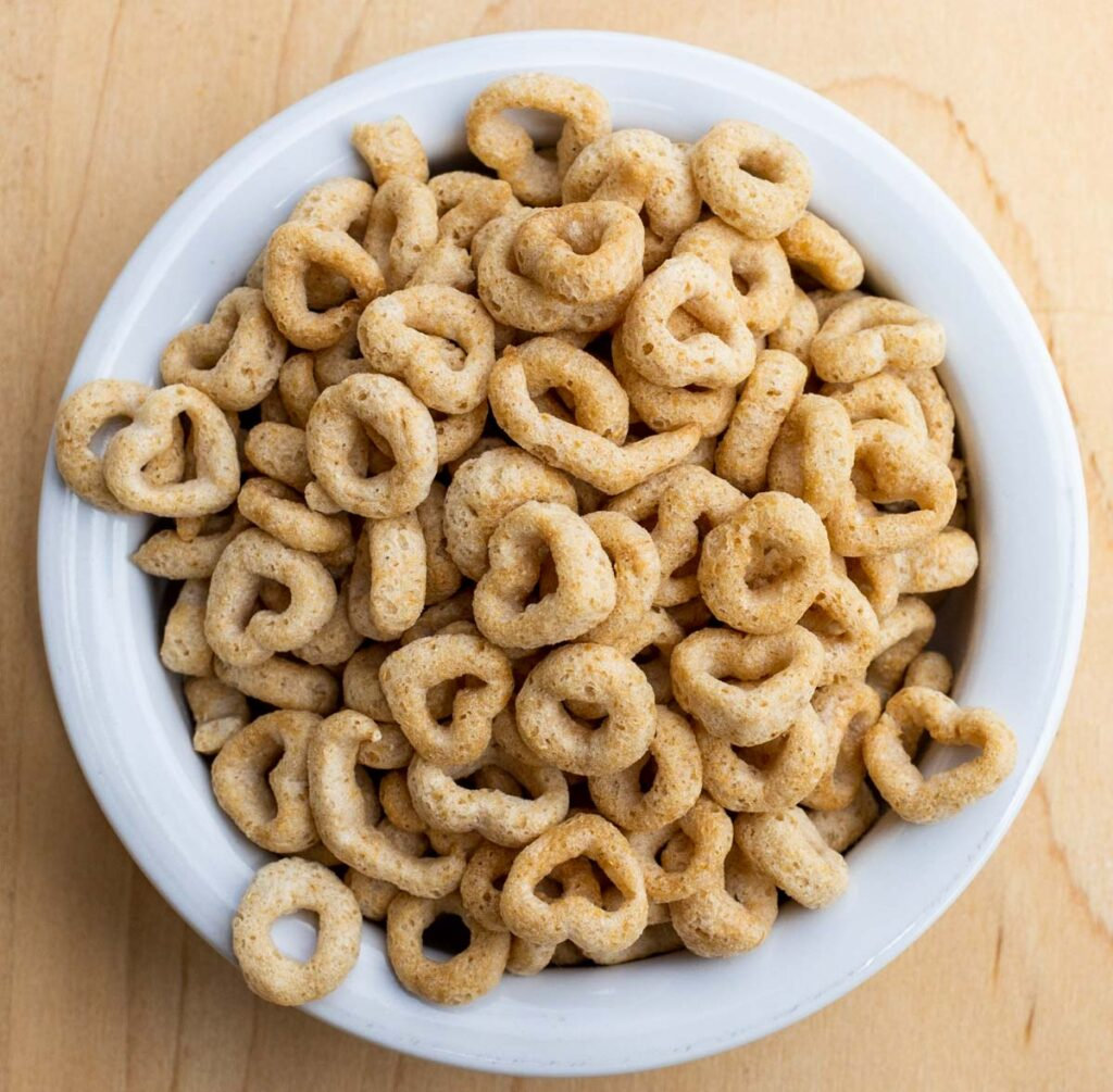 Cheerios in Bowl