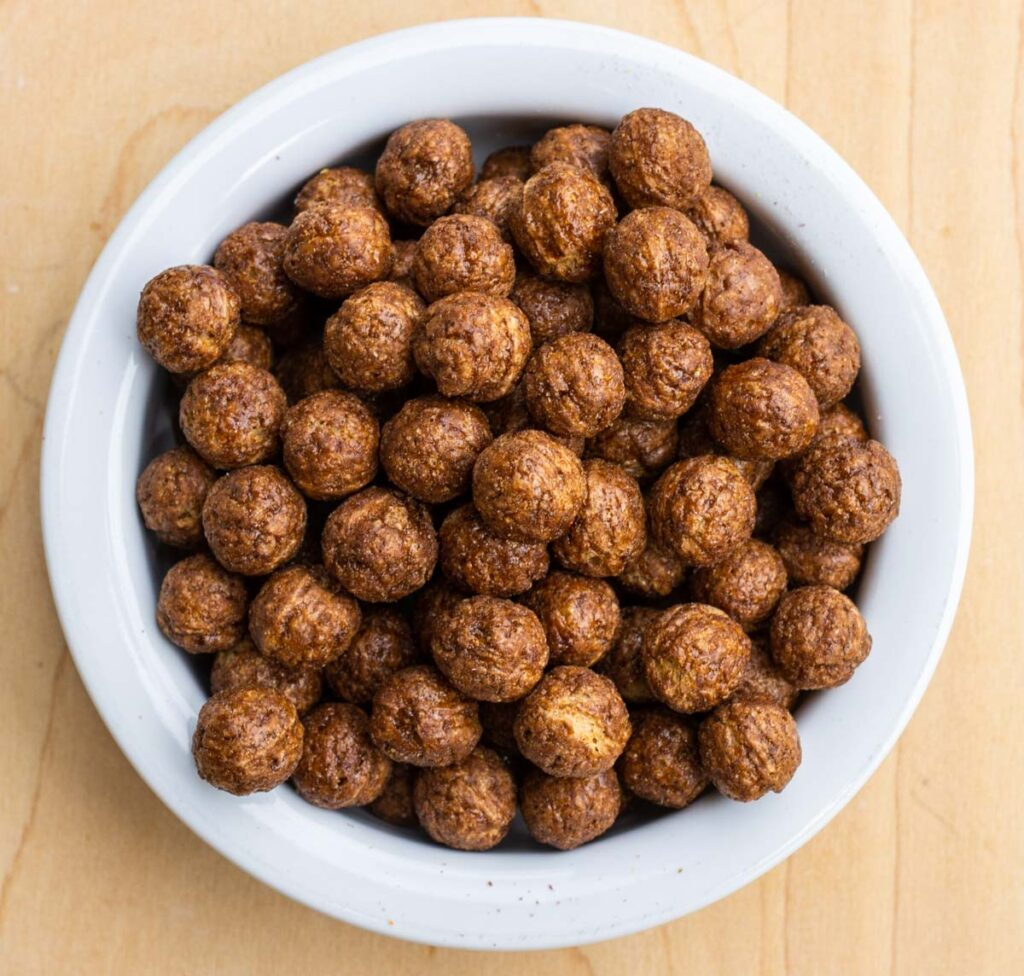 Cocoa Puffs Cereal in Bowl