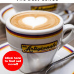 """Pinterest image: Coffee with caption reading """"Florence The Best Coffee - Click here to find out more!!"""""""