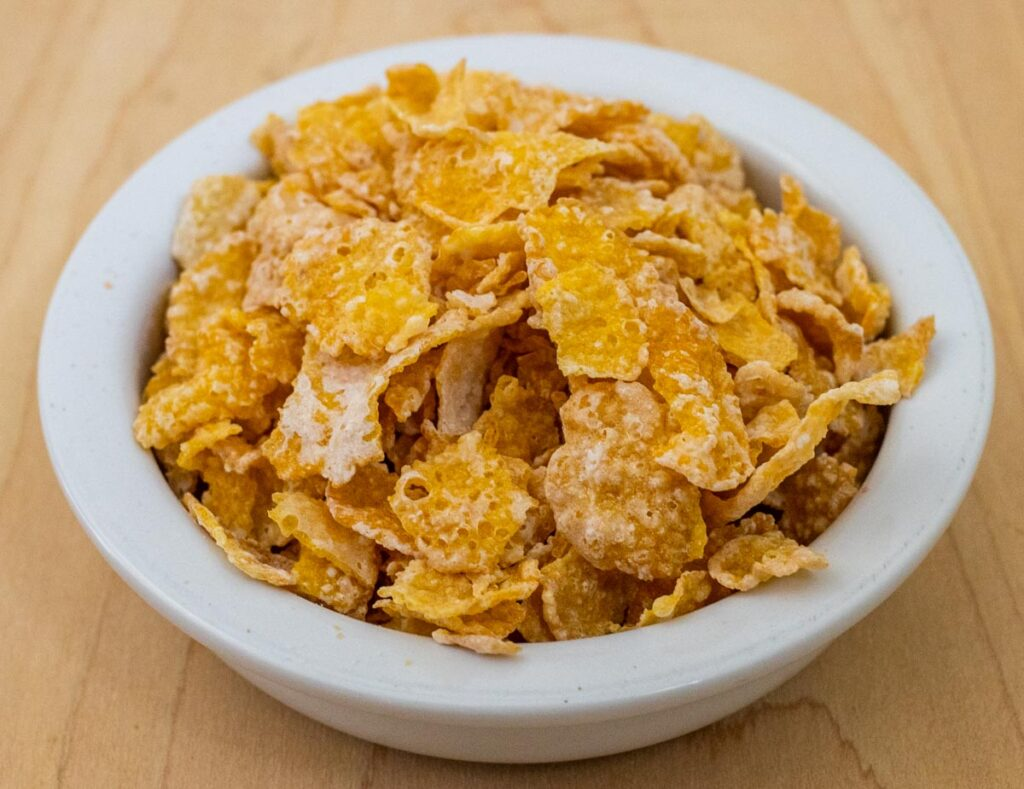 Frosted Flakes in Bowl