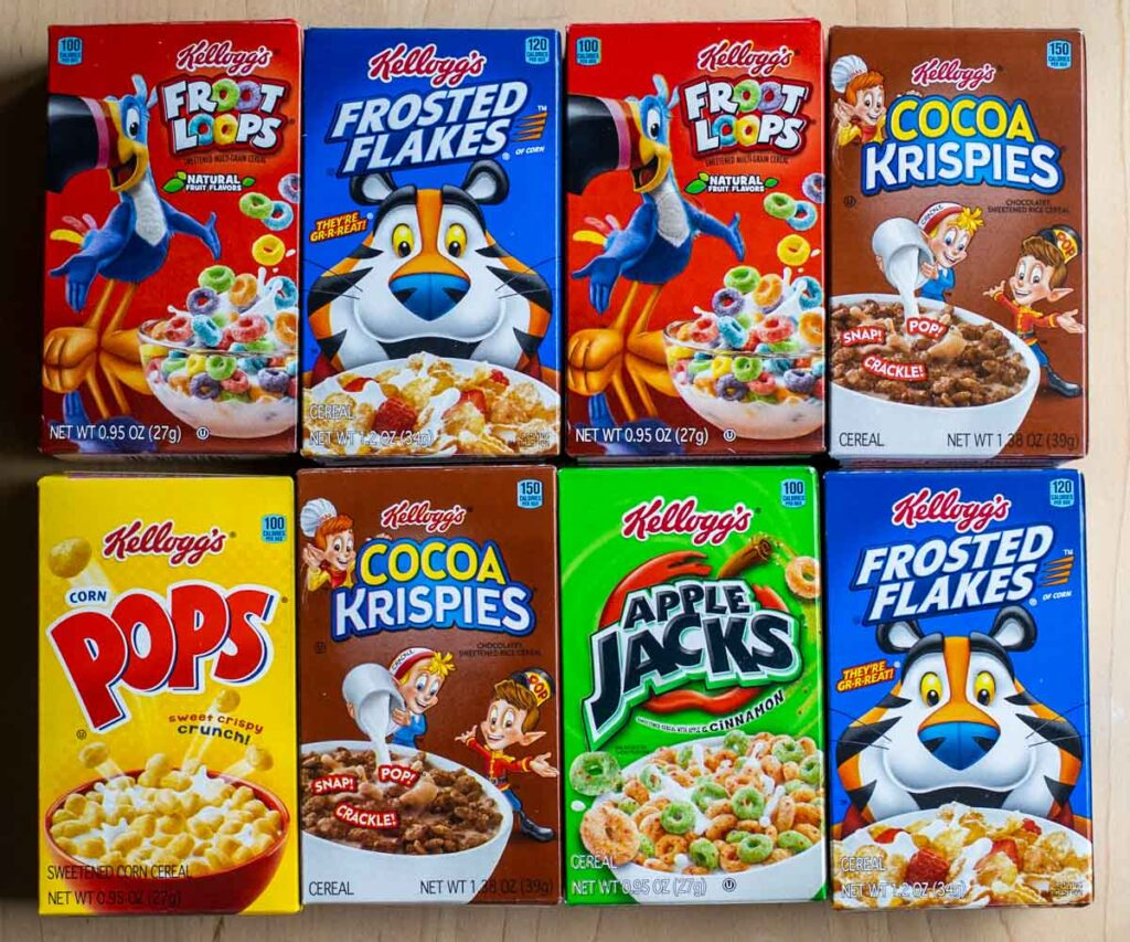 Gallery of Kellogg's Cereal Boxes