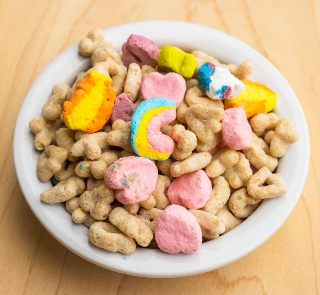 Lucky Charms Cereal in Bowl