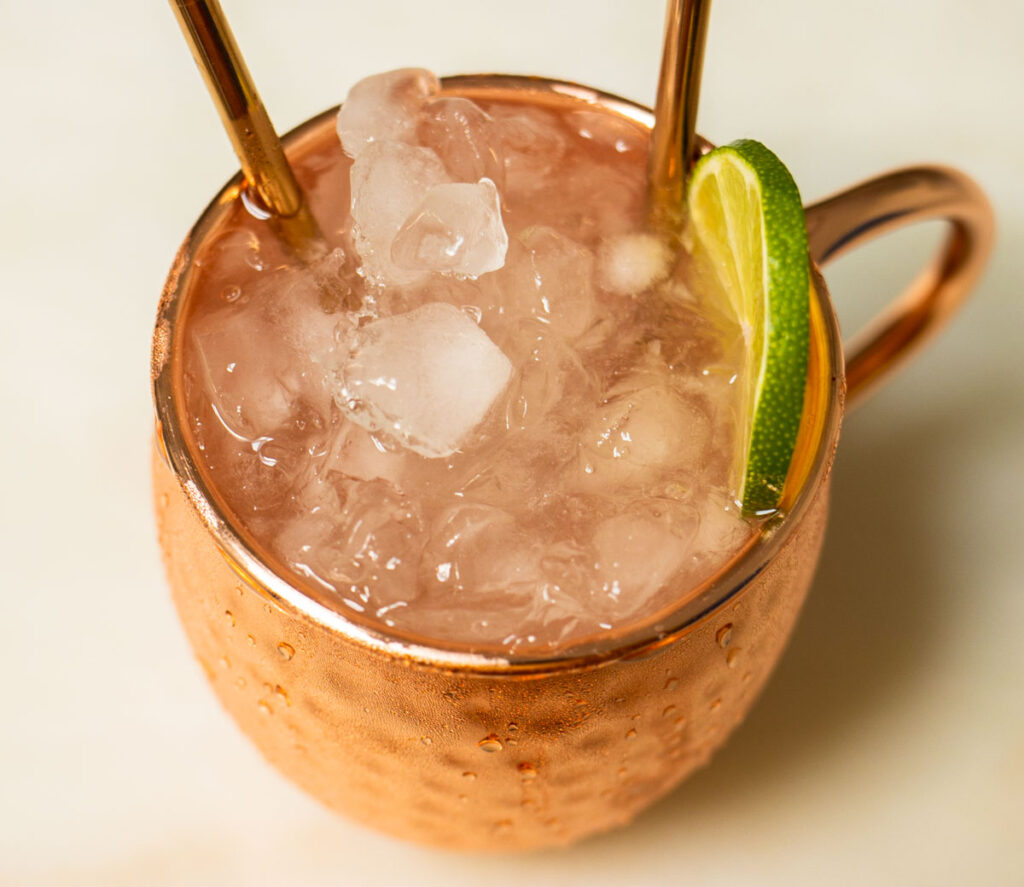 Moscow Mule with Two Straws