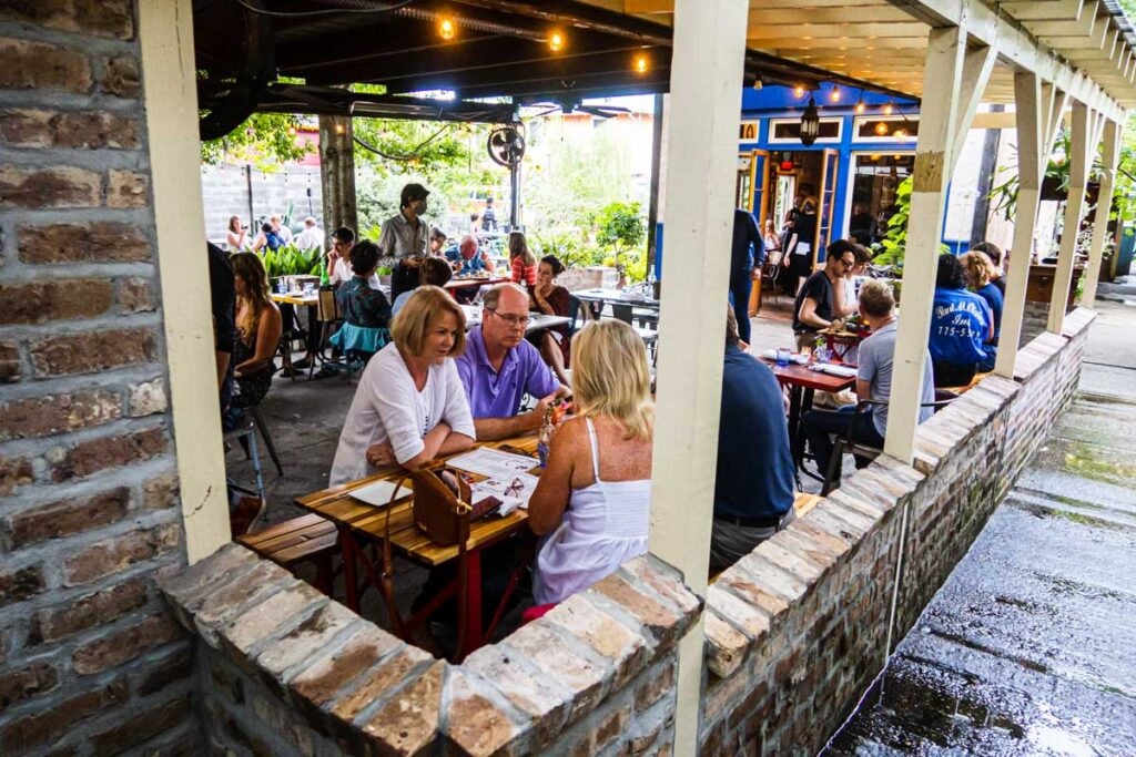 Outdoor Dining at N7 in New Orleans