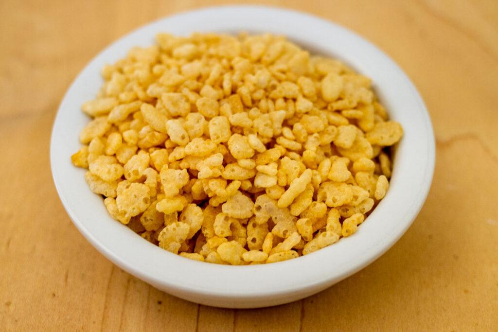 Rice Krispies in Bowl