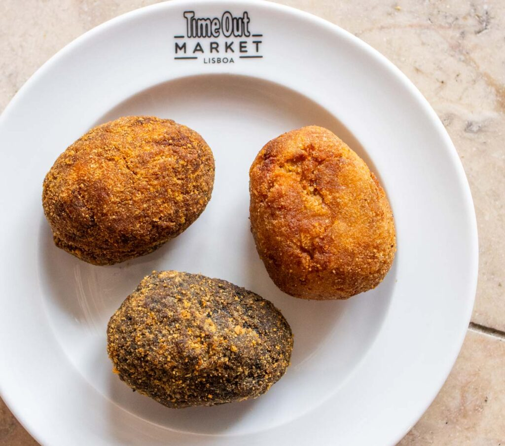 Three Croquettes at Time Out Market Lisbon