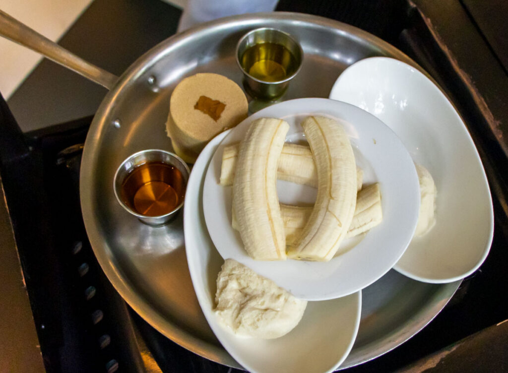 Bananas Foster Ingredients at Brennans in New Orleans