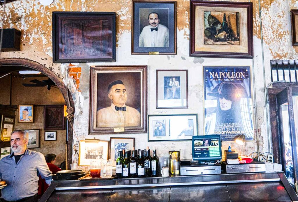 Bar at Napoleon House in New Orleans