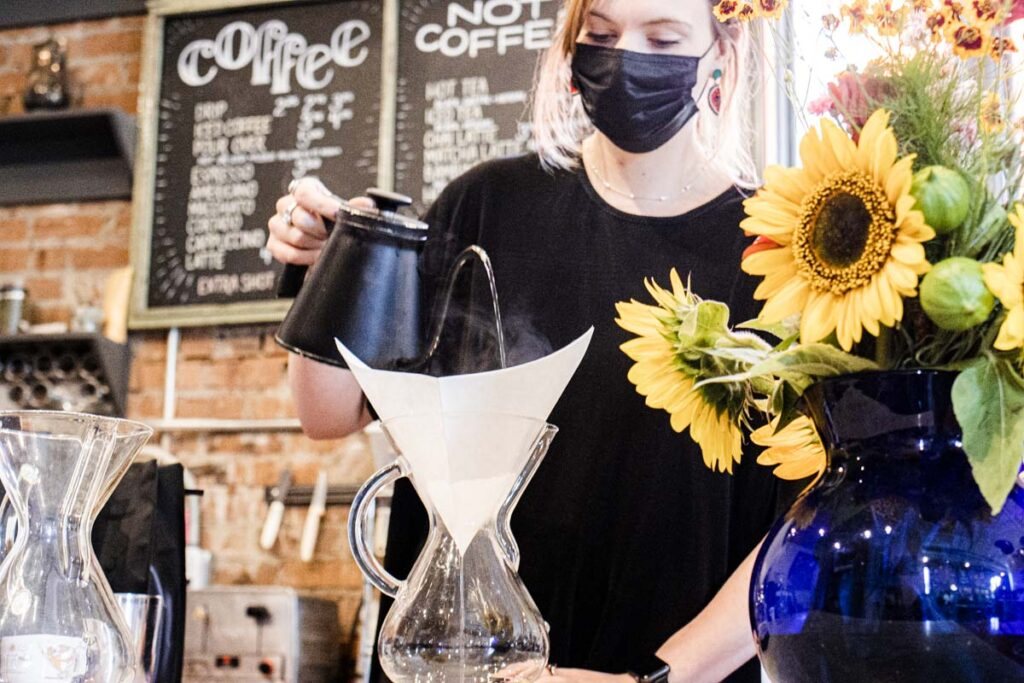 Barista at Cherry Coffee Roasters in New Orleans