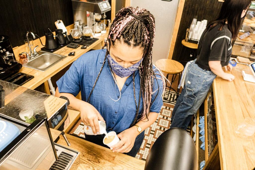 Barista at Mammoth Coffee in New Orleans
