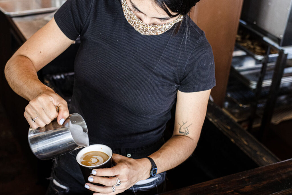 Barista at Mojo Coffee House in New Orleans