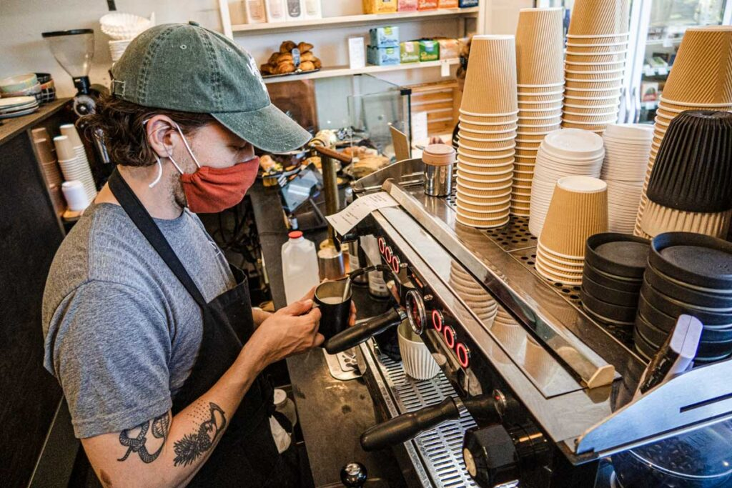 Barista at Village Coffee and Goods in Kingston