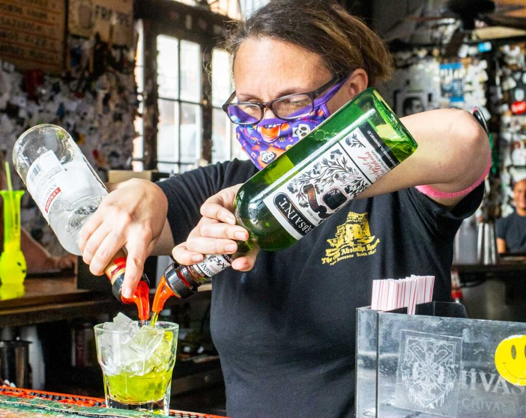 Bartener at Old Absinthe House in New Orleans