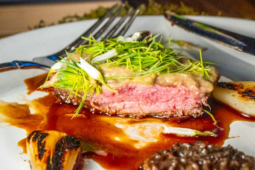 Beef with Forest Flavors at The DeBruce in the Catskills
