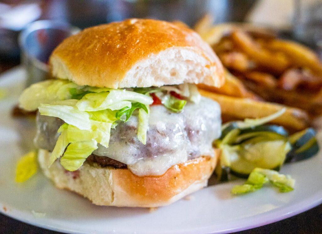 Cheeseburger at Grazin Diner in the Catskills