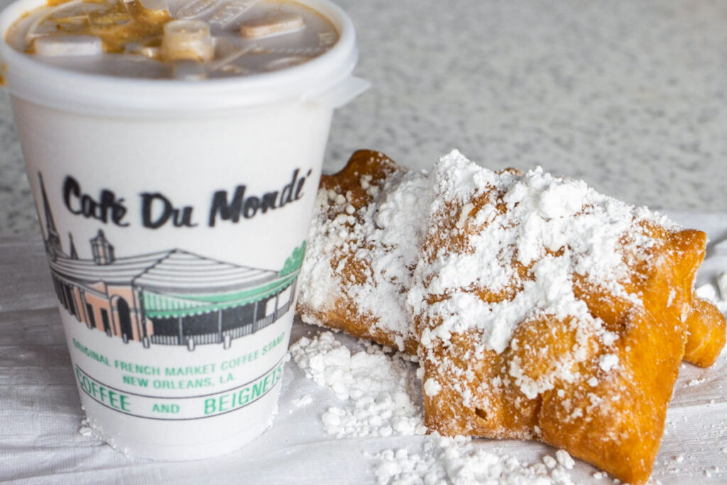 Chicory Coffee and Beignets at Cafe du Monde in New Orleans