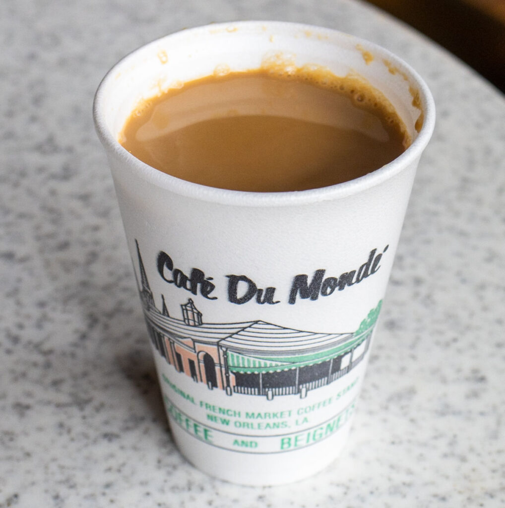 Chicory Coffee at Cafe Du Monde