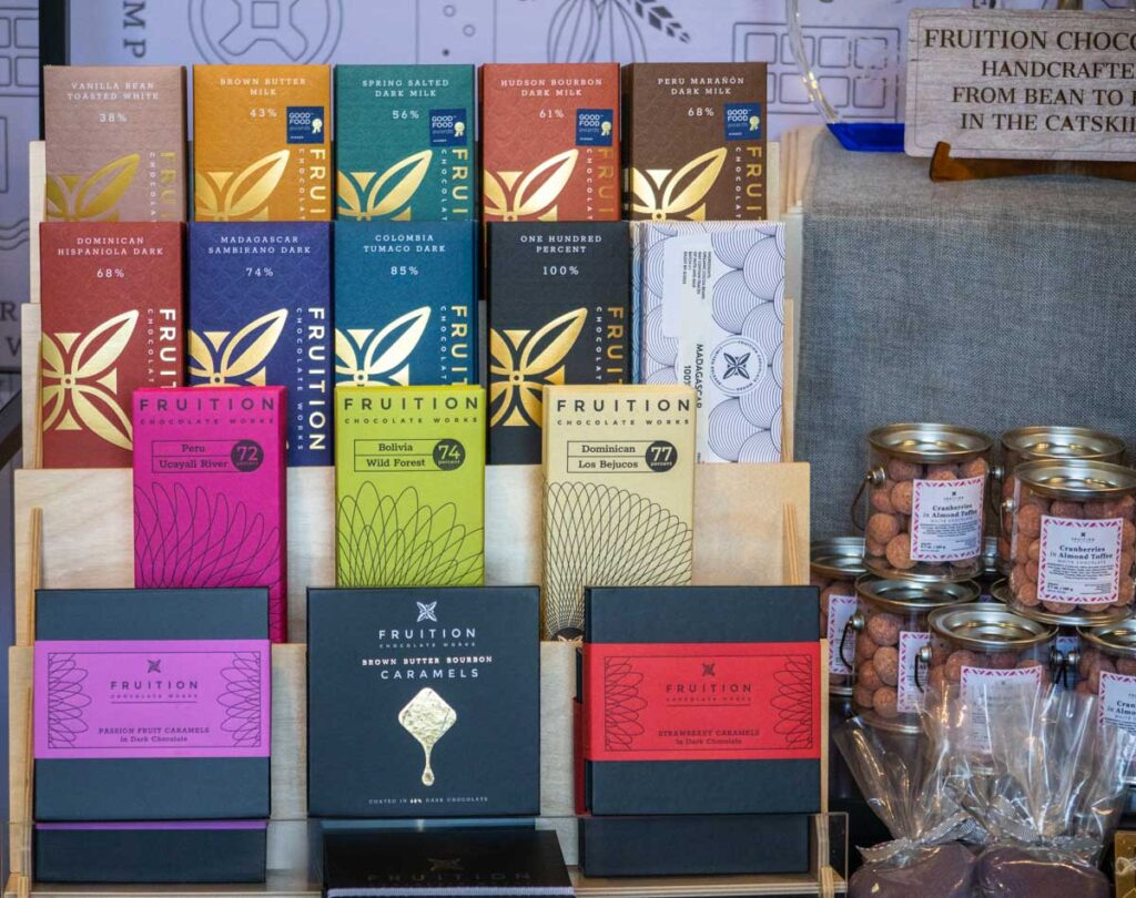 Chocolate Bars at Fruition Chocolate Works in the Catskills