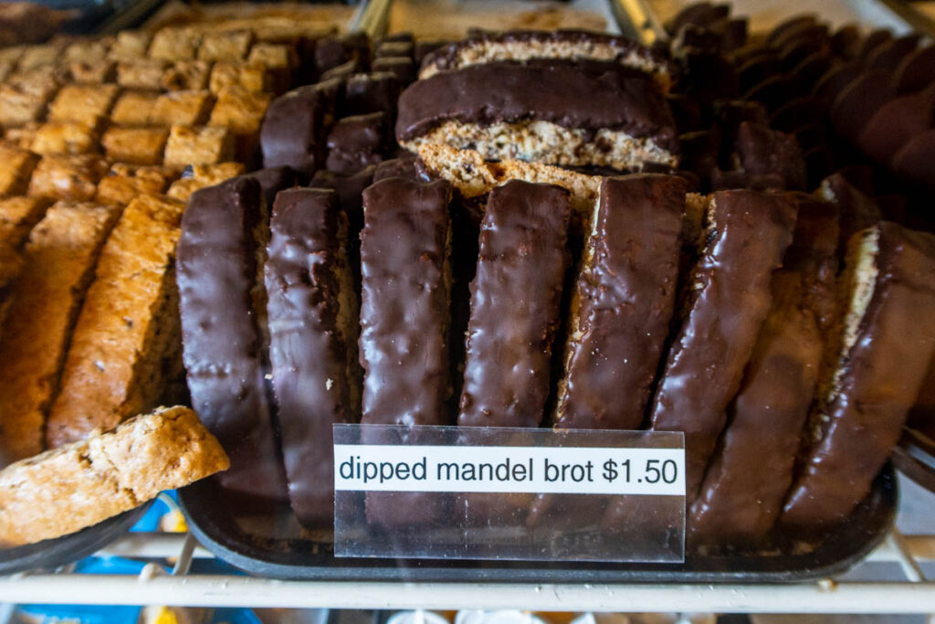 Chocolate Dipped Mandel Brot at Hudson Valley Dessert Company in the Catskills