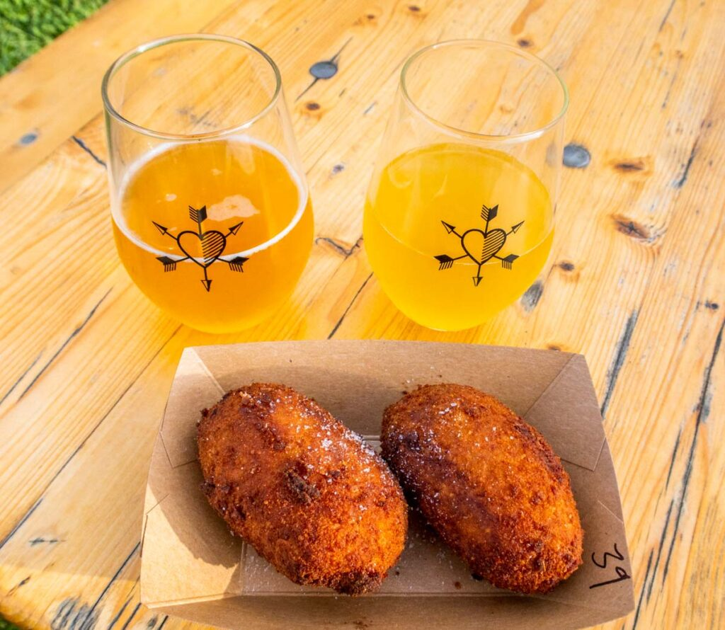 Cider and Snacks at Westwind Orchards in the Catskills