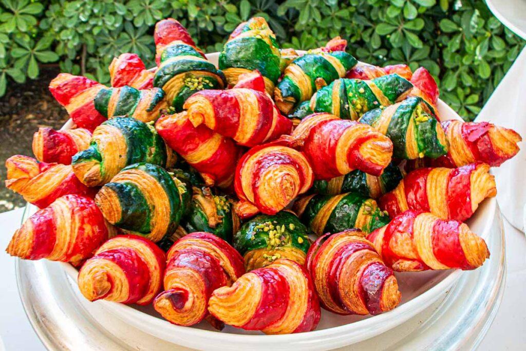 Colorful Cornetti in Bowl