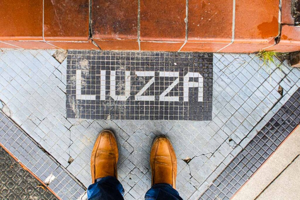 Entrance at Liuzzas by the Track in New Orleans