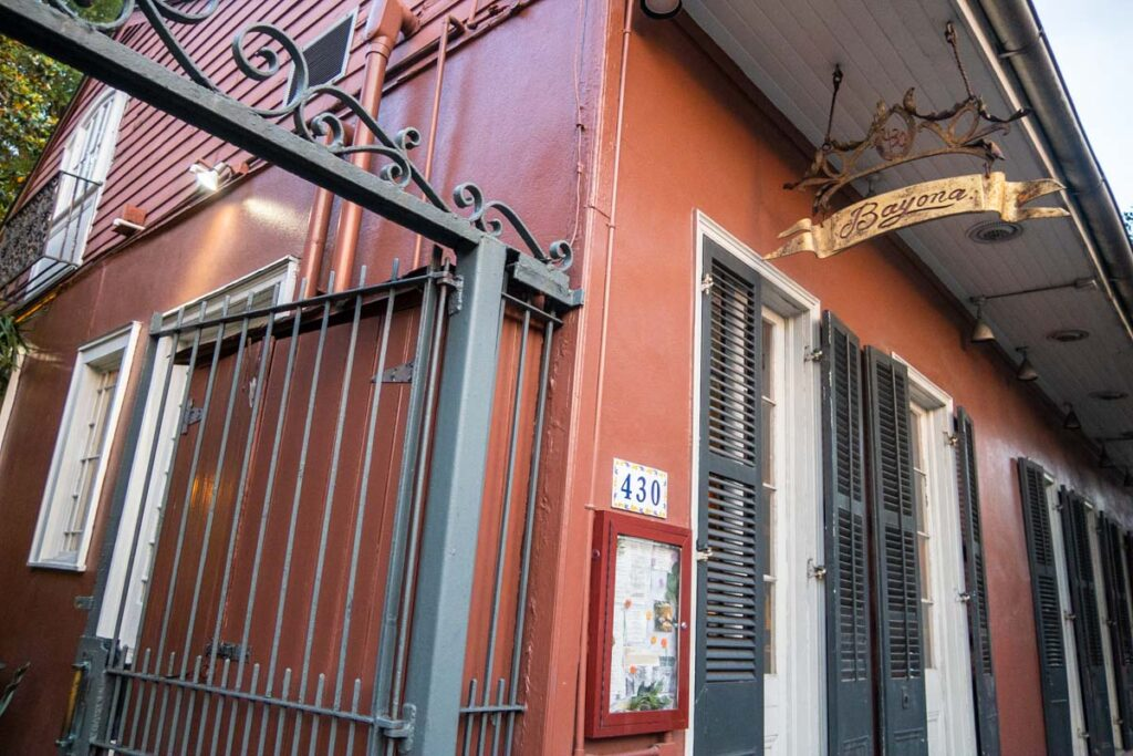 Entrance to Bayona in New Orleans