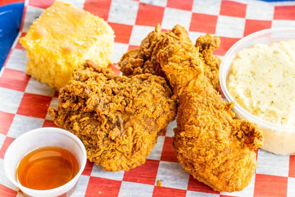 Fried Chicken at Love Bird in the Catskills