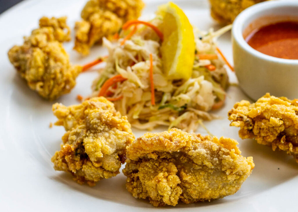 Fried Oysters at Herbsaint in New Orleans