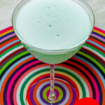 "Pinterest image: grasshopper cocktail with caption reading ""Grasshopper"""