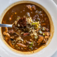 Gumbo at Herbsaint in New Orleans