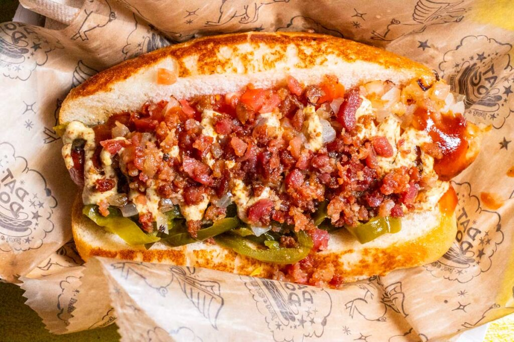 Hot Dog at Dat Dog in New Orleans