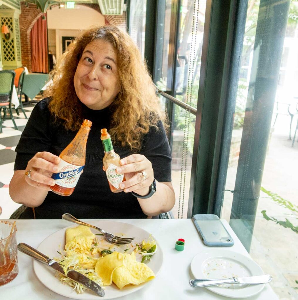 Hot Sauce Dilemma at Brennans in New Orleans