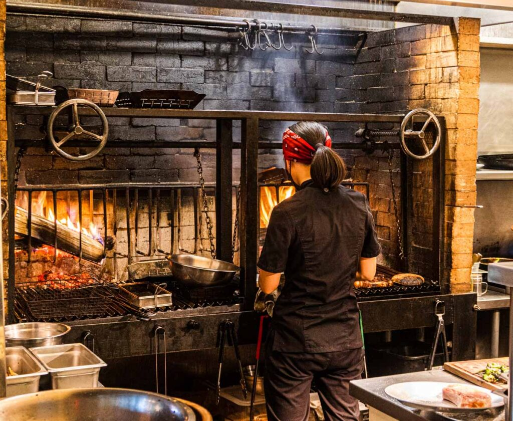 Indoor Grill at SILVIA in Woodstock