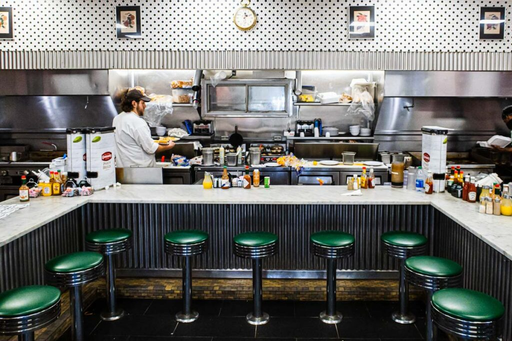 Inside Camellia Grill in New Orleans