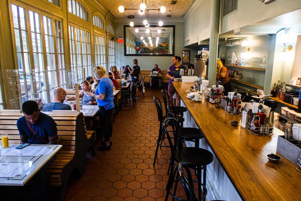 Inside French Toast in New Orleans