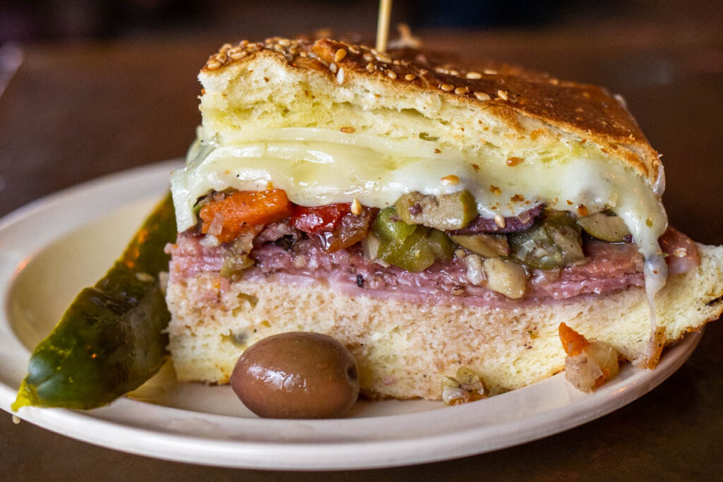 Muffaletta at Napoleon House in New Orleans